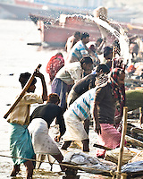The wallahs wash and beat the clothes on the banks of the Ganges. (Photo by Matt Considine - Images of Asia Collection)