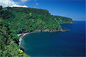 Nua'ailua Bay and Kalaloa Point on the Hana Coast; Maui, Hawaii.