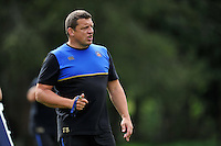 Bath Rugby First team coach Toby Booth looks on. Bath Rugby training session on September 4, 2015 at Farleigh House in Bath, England. Photo by: Patrick Khachfe / Onside Images