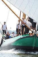 ZEILEN: SNEEK: Snitser Mar, 01-08-2014, SKS skûtsjesilen, finalewedstrijd, skûtsje De Sneker Pan, ©foto Martin de Jong