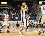 "Ole Miss' Marshall Henderson (22) vs. Arkansas Little Rock at the C.M. ""Tad"" Smith Coliseum in Oxford, Miss. on Friday, November 16, 2012. Ole Miss won 92-52."