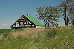 Barn with vintage advertising near Waterville Washington