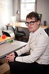 Pew grant winner Jenny Sabin photographed in her studio in Philadelphia, PA