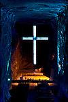 Colombia / Zipaquira / Cudinamarca Province / Salt Cathedral / Main Altar With Cross / Salt Mine.
