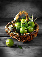 Fresh whole greengages