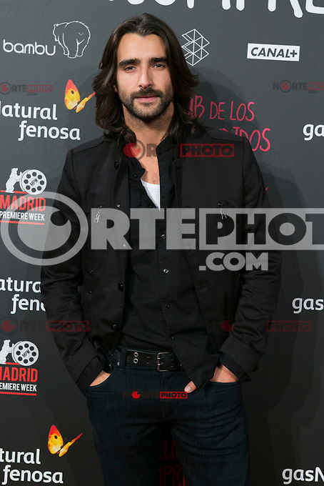Aitor Luna attend the Premiere of the movie &quot;El club de los incomprendidos&quot; at callao Cinema in Madrid, Spain. December 1, 2014. (ALTERPHOTOS/Carlos Dafonte) /NortePhoto<br /> /NortePhoto