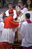 cardinal, bishop of Port-Louis in Mauritius, Maurice Piat  during a consistory at Peter's basilica. Pope Francis has named 17 new cardinals, on November 19, 2016