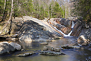 Cascade along Harvard Brook, above Upper Georgiana Falls, in Lincoln, New Hampshire USA during the spring months.