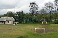 Football goals, part of a sports complex in Batumi...