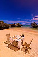 A honeymoon lunch on a deserted island, Vatulele Island Resort, Fiji Islands