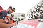 Vincenzo Nibali (ITA) Bahrain-Merida at sign on before the start of Stage 3 Al Maryah Island Stage of the 2017 Abu Dhabi Tour, starting at Al Ain and running 186km to the mountain top finish at Jebel Hafeet, Abu Dhabi. 25th February 2017<br /> Picture: ANSA/Claudio Peri | Newsfile<br /> <br /> <br /> All photos usage must carry mandatory copyright credit (&copy; Newsfile | ANSA)