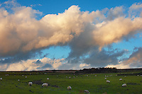 Dramatic sky with clouds at sunset North Yorkshire