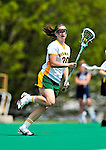 1 May 2010: University of Vermont Catamount midfielder Caitie Izzo, a Sophomore from Longmeadow, MA, in action against the University of New Hampshire Wildcats at Moulton Winder Field in Burlington, Vermont. The Lady Catamounts fell to the visiting Wildcats 18-10 in the last game of the 2010 regular season. Mandatory Photo Credit: Ed Wolfstein Photo