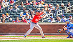 21 April 2013: Washington Nationals outfielder Bryce Harper in action against the New York Mets at Citi Field in Flushing, NY. The Mets shut out the visiting Nationals 2-0, taking the rubber match of their 3-game weekend series. Mandatory Credit: Ed Wolfstein Photo *** RAW (NEF) Image File Available ***