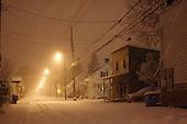 Heavy nigh time snowfall in Joliette ,Quebec