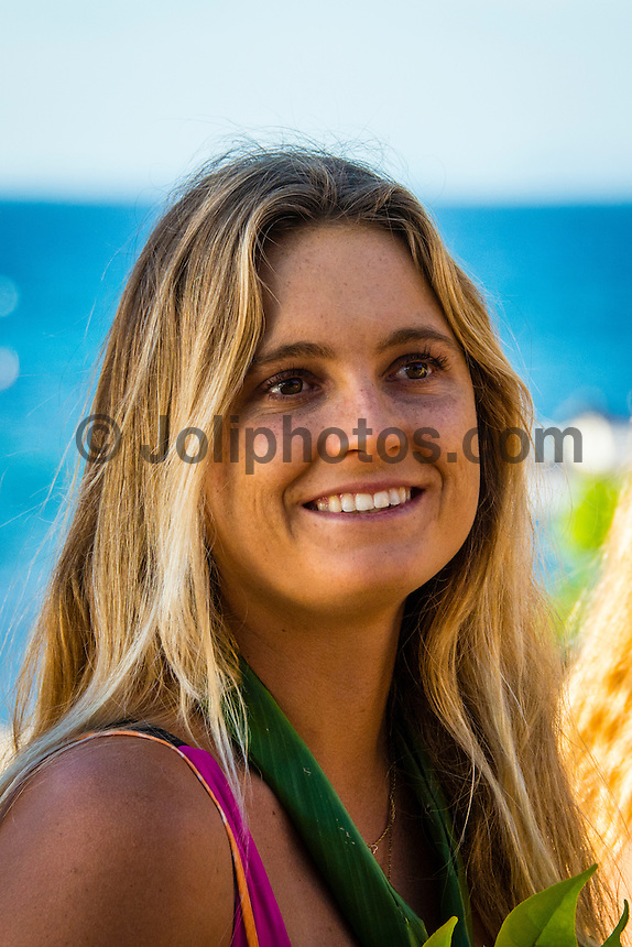 Namotu Island Resort, Namotu, Fiji. (Saturday May 24, 2014) Alana Blanchard (HAW) – The Opening Ceremony of the Women's Fiji Pro was held this afternoon on Tavarua Is. The Fiji Women's Pro, Stop No. 5 of 10 on the 2014  Women's World Championship Tour (WCT), has attracted the world's best female surfers to the world-class waves of Cloudbreak and Restaurants for the recommencement of this season's battle for the world surfing crown. Photo: joliphotos.com