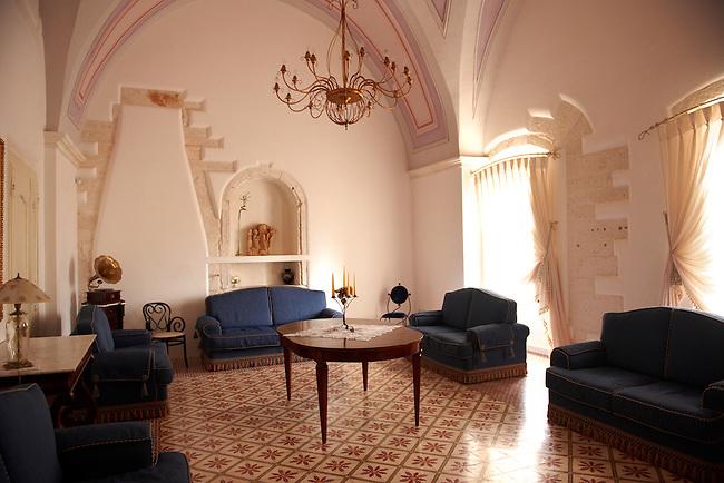 Interior of Hotel Rione Antico La Terra, The white city of Ostuni, Puglia, South Italy.