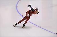 SCHAATSEN: CALGARY: Olympic Oval, 09-11-2013, Essent ISU World Cup, 1000m, Guojun Tian (CHN), ©foto Martin de Jong