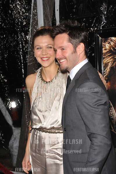 "Maggie Gyllenhaal & writer/director Scott Cooper at the Los Angeles premiere of their new movie ""Crazy Heart"" at the Academy of Motion Picture Arts & Sciences in Beverly Hills..December 8, 2009  Los Angeles, CA.Picture: Paul Smith / Featureflash"