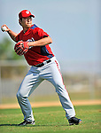 20 February 2011: Washington Nationals' pitcher Chien-Ming Wang takes some fielding practice during Spring Training at the Carl Barger Baseball Complex in Viera, Florida. Mandatory Credit: Ed Wolfstein Photo