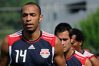 New York Red Bulls Thierry Henry (14)during a New York Red Bulls practice on the campus of Montclair State University in Upper Montclair, NJ, on July 16, 2010.