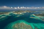 Aerial - Reefs near Matacawalevu island.