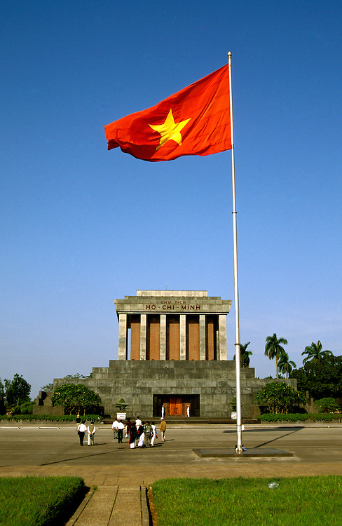 Southeast Asian, Vietnam, Hanoi, Ho Chi Minh Mausoleum, photo# vietna102.Photo Copyright: Lee Foster, www.fostertravel.com, 510-549-2202, lee@fostertravel.com