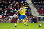 Hearts v St Johnstone...03.12.11   SPL .Rudi Skacel fouls Murray Davidson.Picture by Graeme Hart..Copyright Perthshire Picture Agency.Tel: 01738 623350  Mobile: 07990 594431