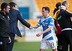 St Johnstone v Partick Thistle&hellip;29.10.16..  McDiarmid Park   SPFL<br />Danny Swanson is subbed<br />Picture by Graeme Hart.<br />Copyright Perthshire Picture Agency<br />Tel: 01738 623350  Mobile: 07990 594431