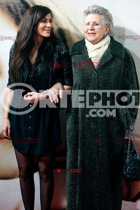 Celia Blanco and Pilar Bardem attends 'Venuto Al Mondo' (Volver A Nacer) premiere at Capitol cinema. January 10, 2013. (ALTERPHOTOS/Caro Marin) /NortePhoto