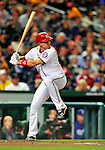 6 September 2011: Washington Nationals third baseman Ryan Zimmerman in action against the Los Angeles Dodgers at Nationals Park in Washington, District of Columbia. The Dodgers defeated the Nationals 7-3 to take the second game of their 4-game series. Mandatory Credit: Ed Wolfstein Photo