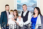 Aoibhín Spillane celebrated her christening with her parents Brian and Eva Spillane Killarney her big sister Riana, and god parents Gary Keane and Grace Spillane in the Brehon Hotel on Sunday