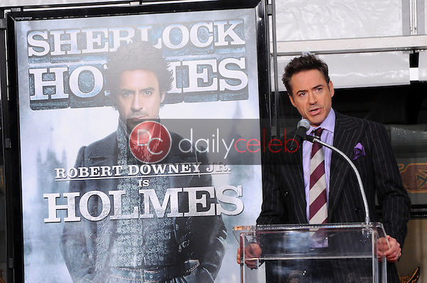 Robert Downey Jr.<br /> at Robert Downey Jr. Hand and Footprints Ceremony, Chinese Theater, Hollywood, CA. 12-07-09<br /> David Edwards/Dailyceleb.com 818-249-4998