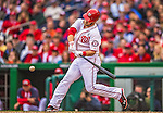 1 April 2013: Washington Nationals outfielder Bryce Harper at bat during the Nationals' Opening Day Game against the Miami Marlins at Nationals Park in Washington, DC. Harper hit  two consecutive homers during his first two plate appearances and was named Player of the Game as the Nationals defeated the Marlins 2-0 to launch the 2013 season. Mandatory Credit: Ed Wolfstein Photo *** RAW (NEF) Image File Available ***