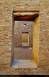 Interior Doorways, Pueblo Bonito Chacoan Great House, Anasazi Hisatsinom Ancestral Pueblo Site, Chaco Culture National Historical Park, Chaco Canyon, Nageezi, New Mexico