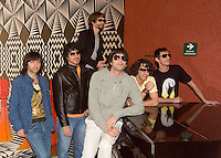 Argentine pop music band Los Babasonicos stand for a photo session  as they released their new album Anoche (Last Night) in Mexico City, March 24, 2006. Photo by Javier Rodriguez