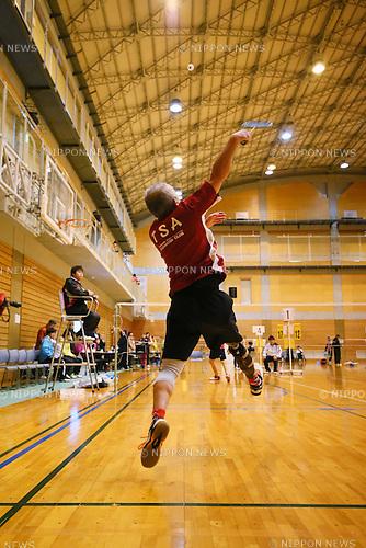 General view, <br /> FEBRUARY 6, 2016 - Badminton : <br /> The 1st Japan National Badminton Championships <br /> Men's singles SL3  <br /> at Kurume city western gymnasium, Fukuoka, Japan. <br /> (Photo by Yohei Osada/AFLO SPORT)
