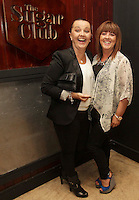 04/06/14<br /> (No Fee pixs) Sandra Hawkins and Monica Leahy arriving to the Stella Bass Album Launch &ldquo;TOO DARN HOT&rdquo; which took place in the Sugar Club Co Dublin this evening&hellip;<br /> Pic Collins  Photos