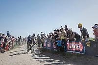 Peter Sagan (SVK/Bora-Hansgrohe), procycling followed by Zdenek Stybar (CZE/Quick Step Floors)<br /> <br /> 115th Paris-Roubaix 2017 (1.UWT)<br /> One Day Race: Compi&egrave;gne &rsaquo; Roubaix (257km)