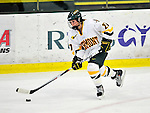 9 October 2009: University of Vermont Catamount forward Erin Barley-Maloney, a Freshman from Raleigh, NC, in third period action against the Union Dutchwomen at Gutterson Fieldhouse in Burlington, Vermont. The Catamounts shut out the visiting Dutchwomen 2-0 to start off the Cats' 2009 season. Mandatory Credit: Ed Wolfstein Photo