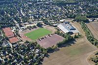 Deutschland.Schleswig- Holstein.Glinde.Sportplatz.Sportanlage.Am Sportplatz.Tages und Begegnungsstätte Glinde Nord.Sportlerheim