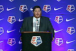 16 January 2015: NWSL press officer Patrick Donnelly. The National Women's Soccer League Draft was held at the Pennsylvania Convention Center in Philadelphia, Pennsylvania.