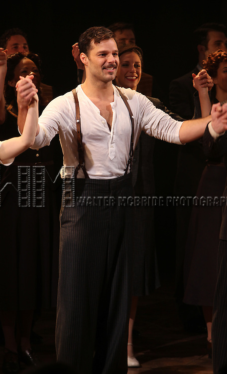 Ricky Martin.during the first preview Curtain Call for the Broadway Revival of 'Evita' at the Marquis Theatre on March 12, 2012 in New York City.