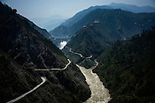 The Baghlihar dam on river Chenab along the Jammu Srinagar Highway in Jammu & Kashmir, India.