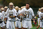May 1, 2009:    #48 Dan Mortell of Notre Dame and #27Ryan Hoff of Notre Dame in action during the NCAA Lacrosse game between Notre Dame and Quinnipiac at GWLL Tournament in Birmingham, Michigan. (Credit Image: Rick Osentoski/Cal Sport Media)