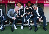 FUSSBALL   1. BUNDESLIGA  SAISON 2012/2013   7. Spieltag FC Bayern Muenchen - TSG Hoffenheim    06.10.2012 Sportvorstand Matthias Sammer (und Trainer Jupp Heynckes (v. li., FC Bayern Muenchen)
