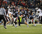 Ole Miss quarterback Bo Wallace (14) vs. Texas A&amp;M in Oxford, Miss. on Saturday, October 6, 2012. Texas A&amp;M won 30-27...