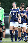 28 September 2014: Notre Dame's Morgan Andrews. The Wake Forest University Demon Deacons hosted the Notre Dame University Fighting Irish at W. Dennie Spry Soccer Stadium in Winston-Salem, North Carolina in a 2014 NCAA Division I Women's Soccer match.