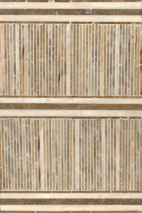 Tatami Mat in Travertine Noce, Breccia Oniciata, Travertino White