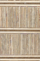 Tatami Mat in Travertine Noce, Breccia Oniciata, Travertino White